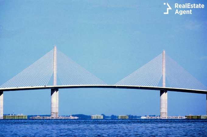 Sunshine Skyway Bridge Tampa Bay Fl