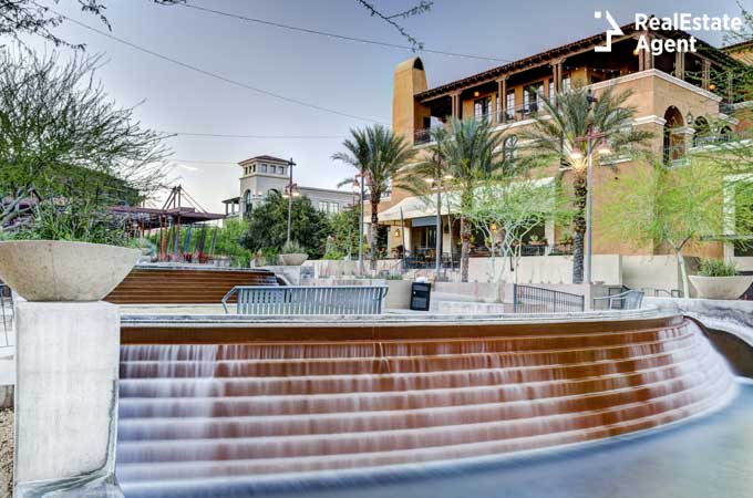 The Waterfront District of downtown Scottsdale Arizona image