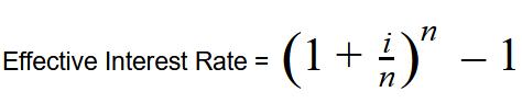 Effective interst rate formula