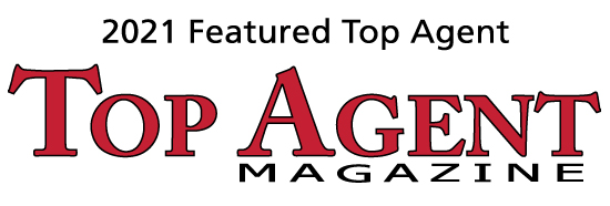 Featured as top agent in top agent magazine in 2021