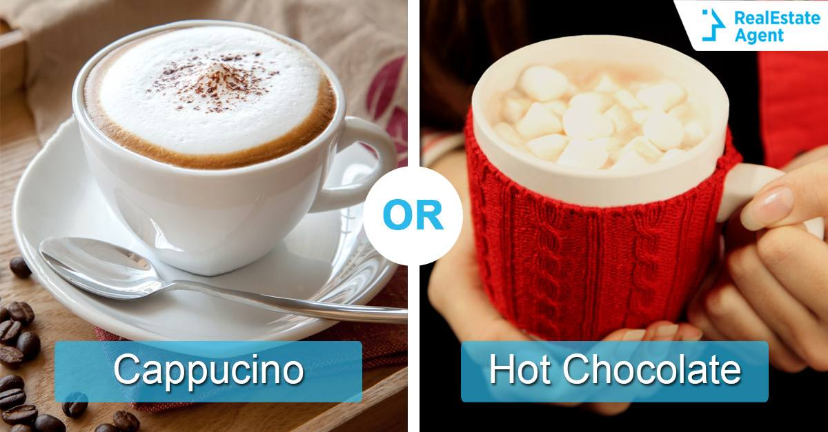 cappucino vs hot chocolate