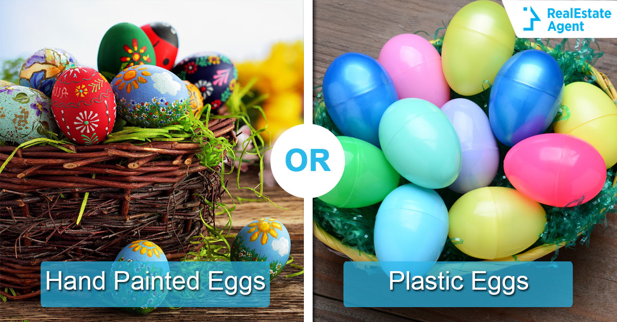 Hand Painted Eggs or Plastic Eggs? Which one will your house feature this Easter?