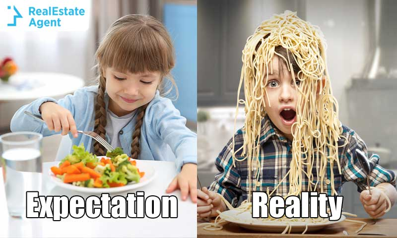 Expectation vs Reality Kids eating