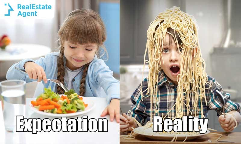 Expectation vs Reality Kids eating
